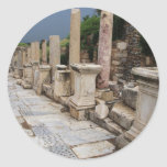 Ancient Roman road in the city of Ephesus, Turkey Sticker