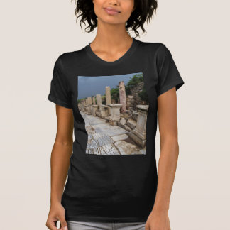 Ancient Roman road in the city of Ephesus, Turkey T-Shirt