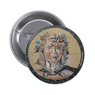 Ancient Roman Satyr Mosaic Pinback Button