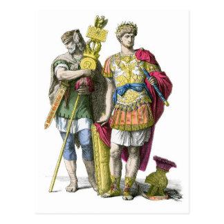 Ancient Roman Standard Bearer and General Postcard