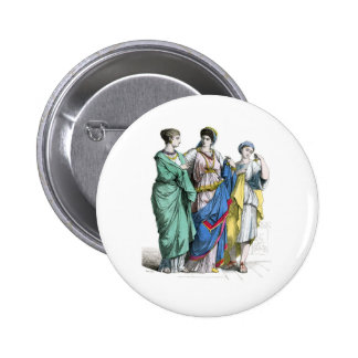 Ancient Roman Women Pinback Buttons