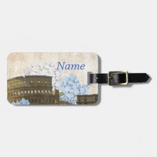 Ancient Rome Blue Hydrangea Luggage Tag