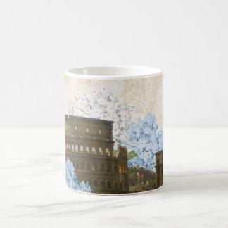 Ancient Rome Blue Hydrangea Mug