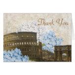 Ancient Rome Blue Hydrangea Thank You Card