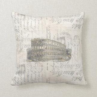 Ancient Rome Coliseum Italian Postcard Pillow