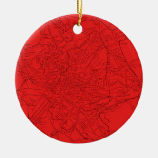 Ancient Rome in Red Ceramic Ornament