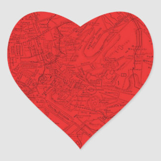 Ancient Rome in Red Heart Sticker