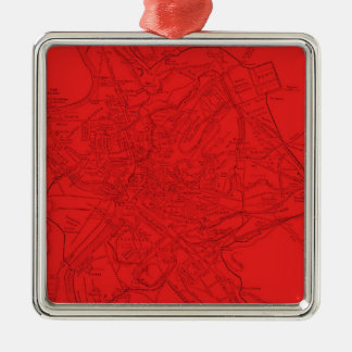 Ancient Rome in Red Metal Ornament