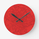 Ancient Rome in Red Round Wall Clock