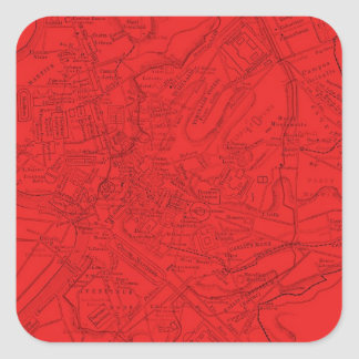 Ancient Rome in Red Square Sticker