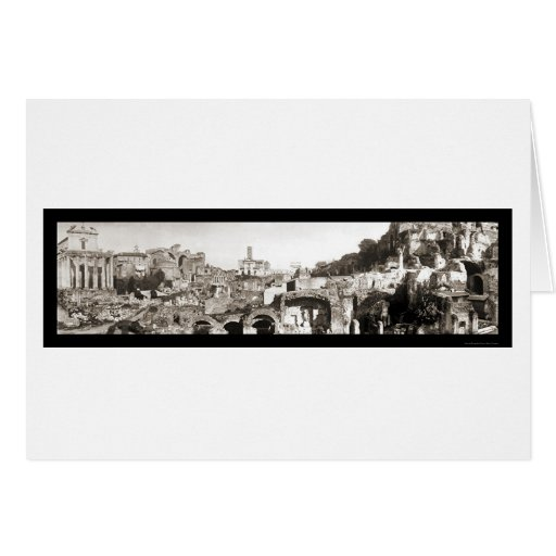 Ancient Rome, Italy Photo 1909 Greeting Card