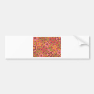 Ancient Rome Style Flowers Bumper Sticker
