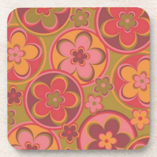 Ancient Rome Style Flowers Drink Coasters