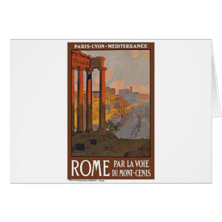 Ancient Rome Travel Ad Painting Card