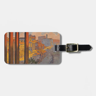 Ancient Rome Travel Ad Painting Luggage Tag