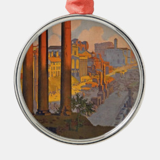 Ancient Rome Travel Ad Painting Metal Ornament