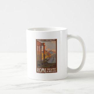 Ancient Rome Travel Ad Painting Classic White Coffee Mug