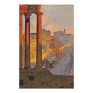 Ancient Rome Travel Ad Painting Stationery