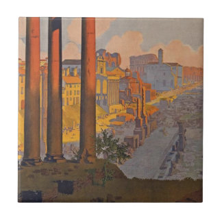 Ancient Rome Travel Ad Painting Tile
