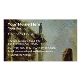 Ancient Ruins By Robert Hubert Business Cards