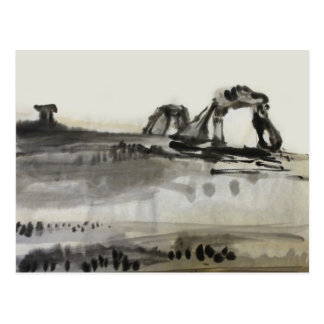Ancient Ruins Desert Postcard