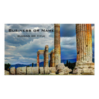 Ancient Ruins in Athens Greece Double-Sided Standard Business Cards (Pack Of 100)