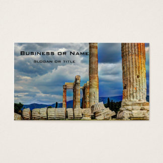 Ancient Ruins in Athens Greece Business Card