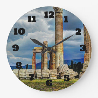 Ancient Ruins in Athens Greece Wall Clocks