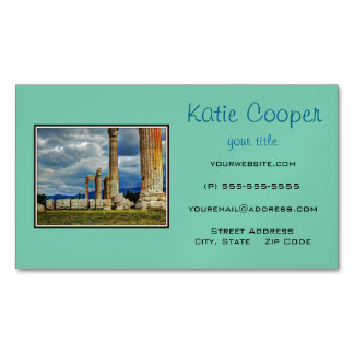 Ancient Ruins in Athens Greece Magnetic Business Card