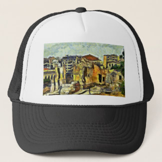 Ancient Ruins in Old Athens Greece Trucker Hat