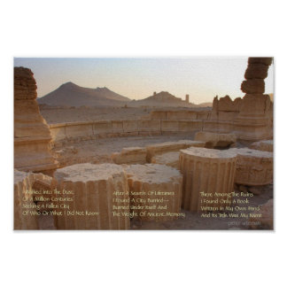 Ancient Ruins Modern Poetry Poster