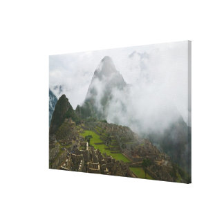 Ancient ruins of Machu Picchu with Andes Canvas Print