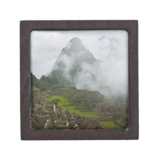 Ancient ruins of Machu Picchu with Andes Jewelry Box