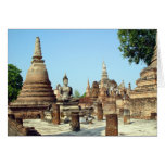 Ancient Ruins Of Sukhothai Thailand-Blank Card