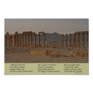Ancient Ruins Poetry Poster
