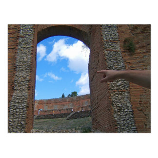 Ancient Ruins Taormina, Sicily Postcard