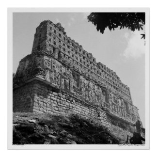 Ancient Ruins: Temple 33 of Yaxchilan Poster