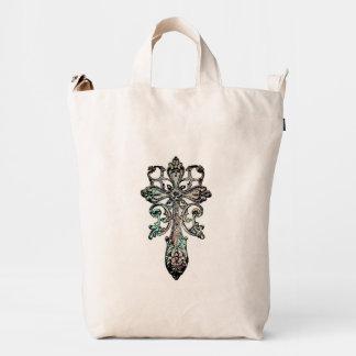 Ancient Rustic Cross No.2 Duck Bag