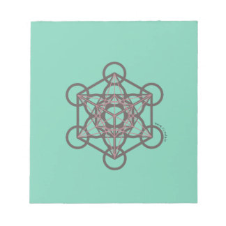 Ancient Sacred Geometry Metatron Cube Notepad