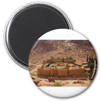 Ancient Saint Catherine's Monastery Sinai Egypt 2 Inch Round Magnet