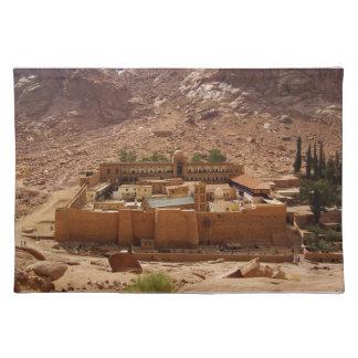 Ancient Saint Catherine's Monastery Sinai Egypt Cloth Placemat