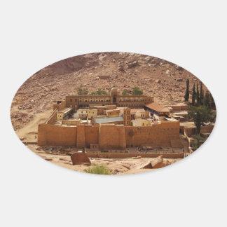 Ancient Saint Catherine's Monastery Sinai Egypt Oval Sticker
