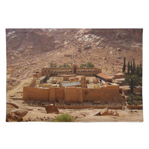 Ancient Saint Catherines Monastery Sinai Egypt Placemat Zazzle