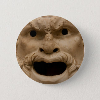 Ancient Satyr mask Button