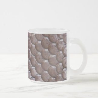 Ancient scale armor 10 oz frosted glass coffee mug