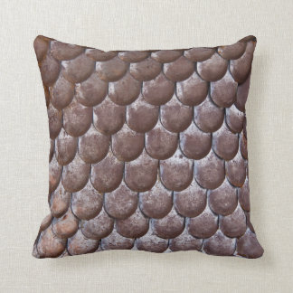 Ancient scale armor throw pillows