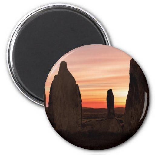 Ancient Scottish Stones 2 Inch Round Magnet