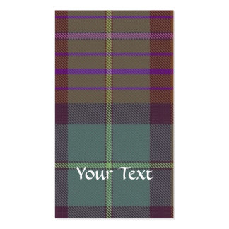 Ancient Scottish tartan Business Card Template