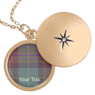 Ancient Scottish tartan Locket Necklace