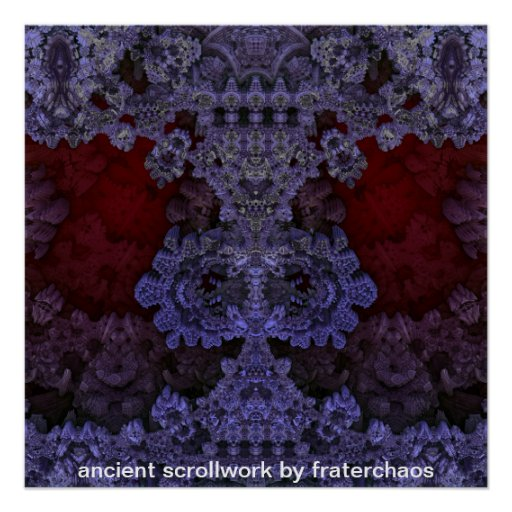 ancient scrollwork by fraterchaos poster